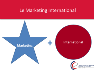 Le Marketing International - Rhone