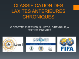 DIU GENOU Classification de laxités – NEYRET