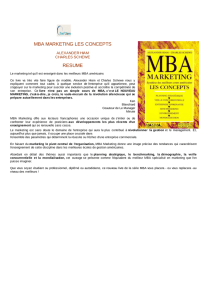 mba marketing les concepts resume