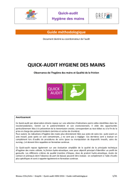 quick-audit hygiene des mains