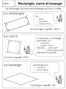 Rectangle, carré et losange