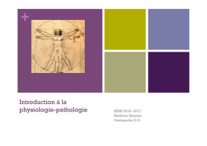 Introduction à la physiologie-pathologie