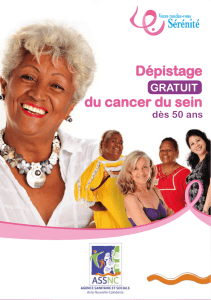 Dépistage du cancer du sein - ASS-NC