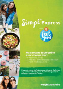 Mes menus - Weight Watchers