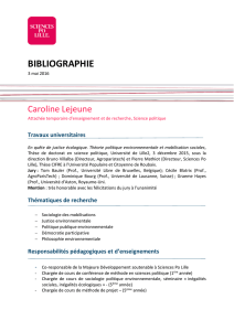 bibliographie - Sciences Po Lille