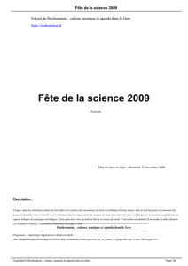 Fête de la science 2009