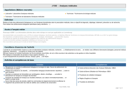 J1302 - Analyses médicales Appellations
