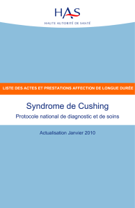 Liste des actes et prestations sur le syndrome de Cushing