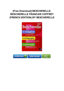 (FRENCH EDITION) BY BESCHERELLE