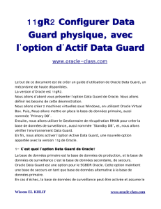 11 2 gR Configurer Data , Guard physique avec ` ` l