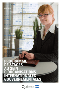 programme de stages au sein d`organisations internationales