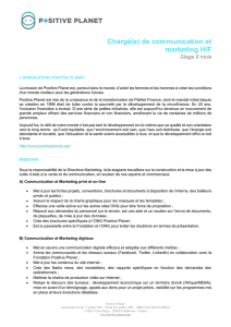 Chargé(e) de communication et marketing H/F