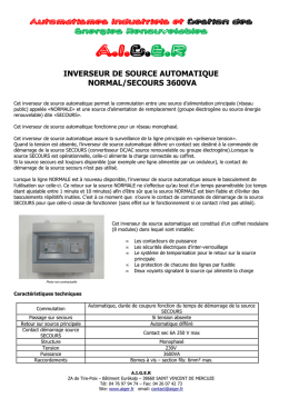 Inverseur de source normal/secours 3600VA