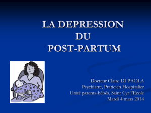 Dépression du post-partum