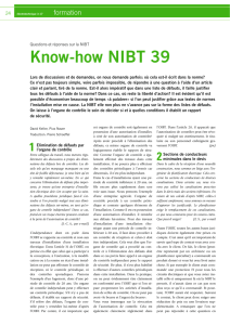 Know-how NIBT 39