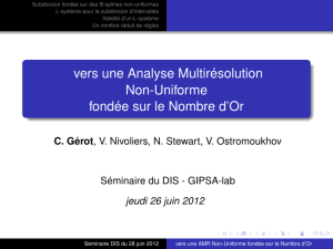 vers une Analyse Multirésolution Non-Uniforme fondée - GIPSA-Lab