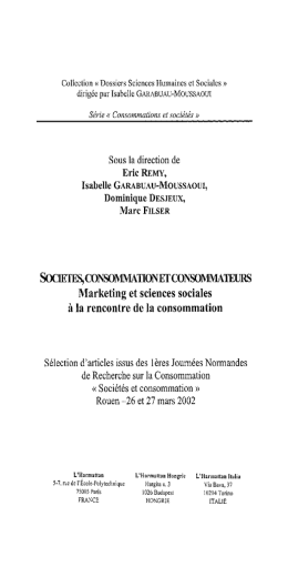 SocIErFB,CONSOMMATIONETCONSOMMATEURS Marketing et