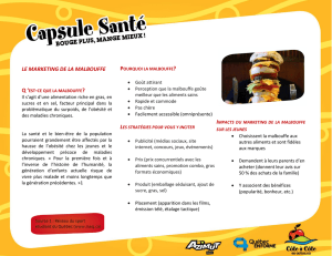 LE MARKETING DE LA MALBOUFFE