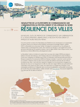 UKP Newsletter _City Resilience_French