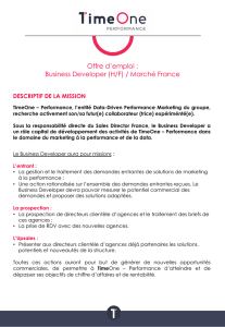 Offre d`emploi : Business Developer (H/F) / Marché France