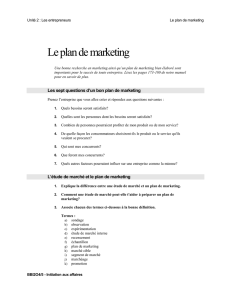 11 Le plan de marketing