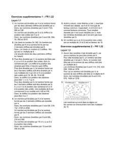 Exercices supplémentaires 1 – FR 1