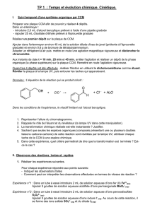 tp3 : reaction entre une solution d`acide chlorhydrique et le metal