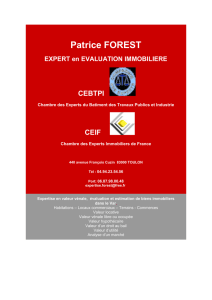 Patrice FOREST EXPERT en EVALUATION IMMOBILIERE CEBTPI