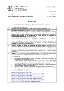notification - WTO Documents Online