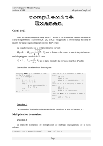 Multiplication de matrices - Université Grenoble Alpes