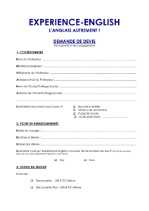 demandez un devis - Experience English