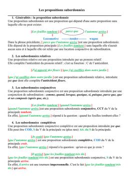 correction des exercices sur phrase simple / phrase complexe