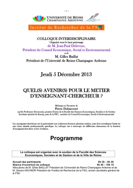 Colloque « Les transformations du capitalisme contemporain : faits