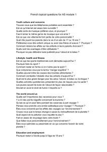 French topical questions for AS module 1