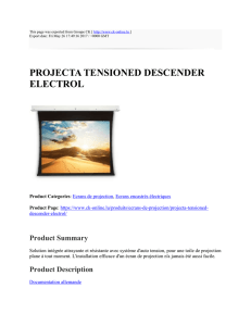 PROJECTA TENSIONED DESCENDER ELECTROL : Groupe CK