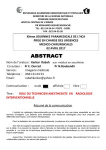 communication orale.ROLE DU TECHNICIEN