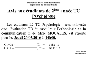 examen TD : Technologie de la communication Fichier - E