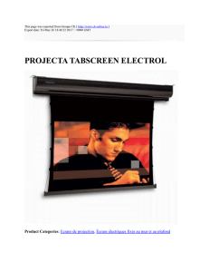 PROJECTA TABSCREEN ELECTROL : Groupe CK : http://www.ck