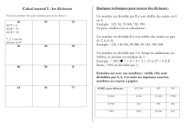 Calcul mental 4 : les multiples