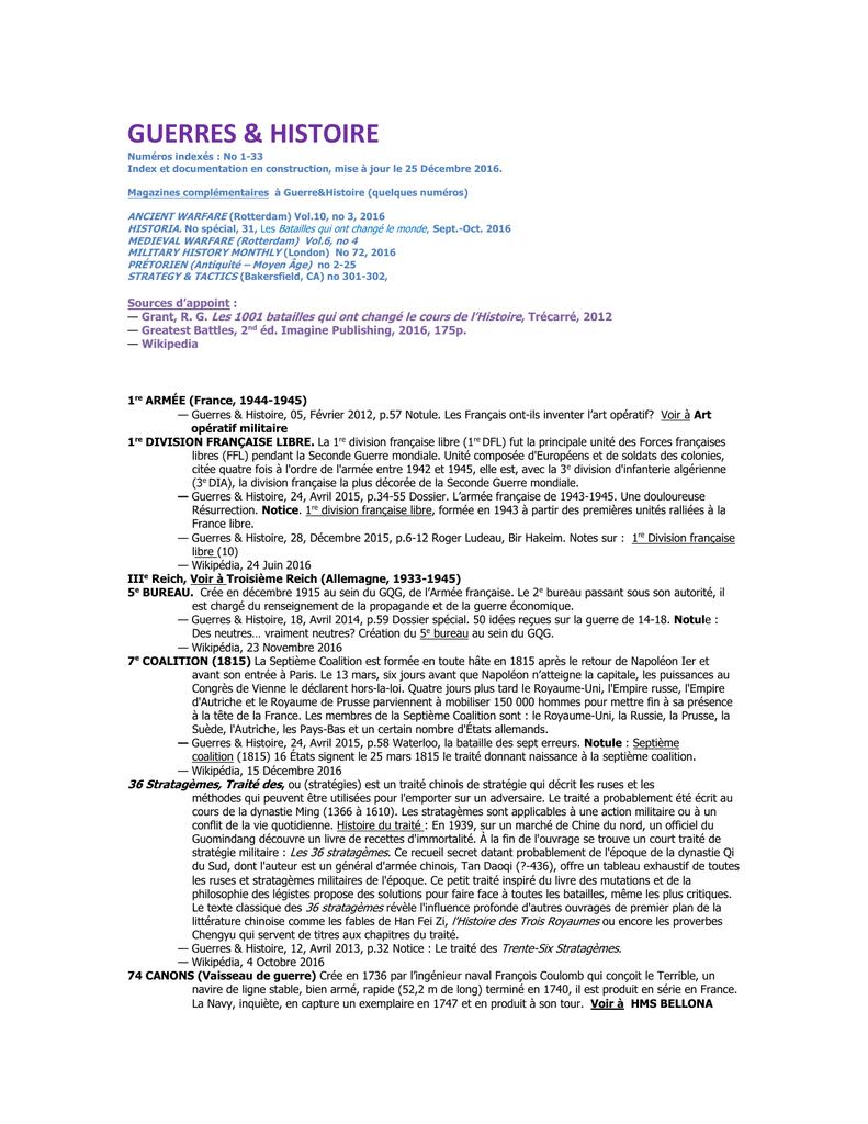 GUERRES – Histoire 7639c17ad