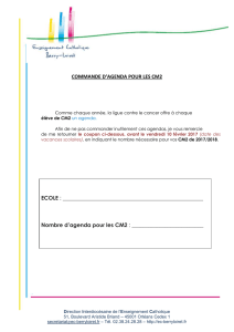 AGENDA CM2 Ligue contre le cancer