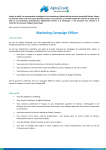 Marketing Campaign Officer