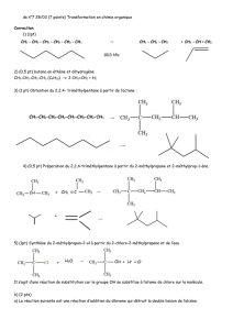 ds n°7 28/03 (7 points) Transformation en chimie organique