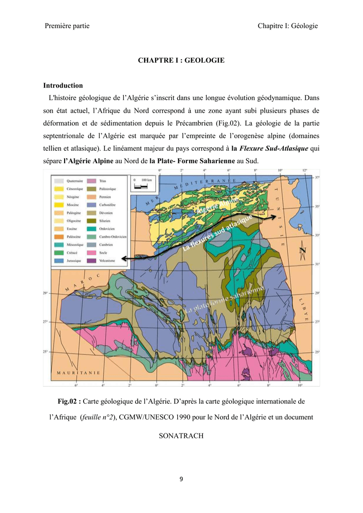 Carte Geologique Afrique Du Sud.K Geologie Universite D Oran 2