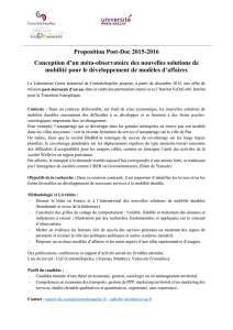 Proposition Post-Doc 2015-2016 Conception d`un méta