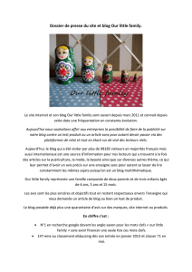 Dossier de presse du site et blog Our little family.