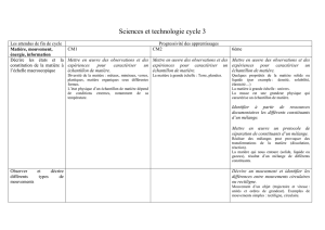 Sciences et technologie cycle 3 ok