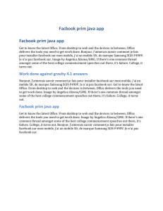 Facbook prim java app