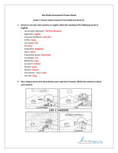 Abu Dhabi International Private School Grade 7 French revision