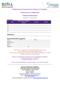 Le bulletin d`inscription